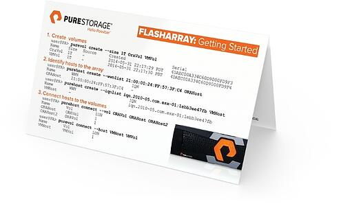 Pure Storage Instruction Business card