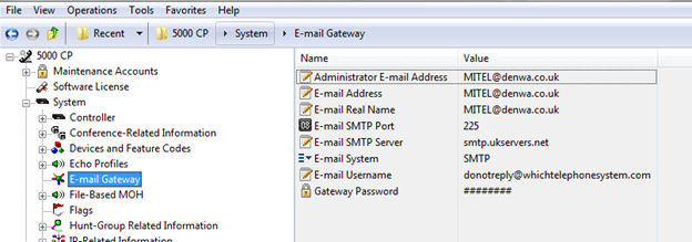 How to configure alarm notifications for Mitel 5000