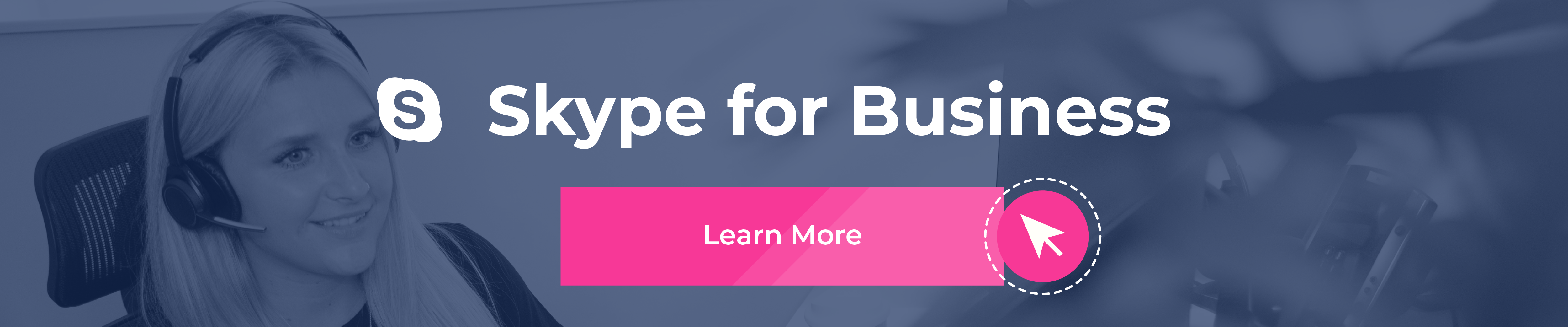 Skype for Business CTA banner