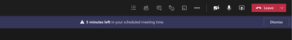 End-of-meeting notifications