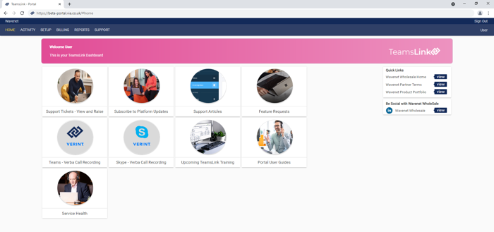 TeamsLink Portal Phase 1 - Partners